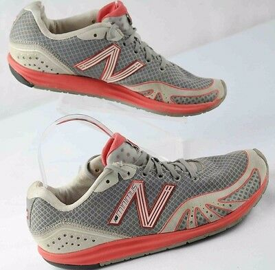 Womens sz 8 New Balance minimus WR10RG gray orange running shoes preowned