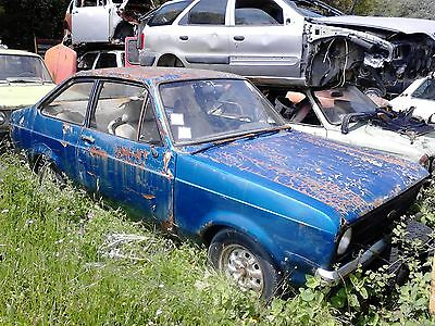 Ford Escort RS 2000 MK II redtoration project barn find