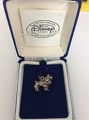 "Limited Edition Disney Store Sterling Silver Charm -Lady From ""Lady & The Tramp"""