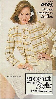 Simplicity 1986 Crochet Pattern Booklet #0454 Elegant Evening to Crochet