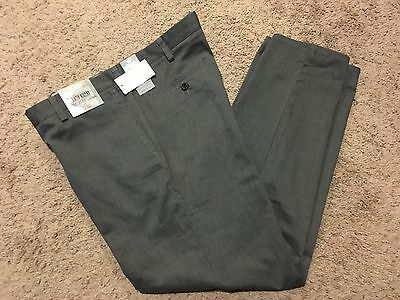 NWT DOCKERS Straight Fit Easy Khaki Pant Flat Front Gray Heather 36X32 MSRP50