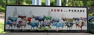 Original 1999 - Cows on Parade Chicago Poster -CowParade American Folk Art