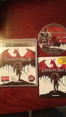 Dragon Age 2  (Playstation 3, 2011) Complete Game/Case/Instructions