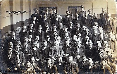 """Manchester Working Mens Club Leicester RPPC """" CLUB MEMBERS """" c.1910/13"""