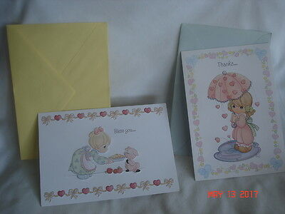 LOT 2 NEW / UNUSED HALLMARK PRECIOUS MOMENTS Thank You CARDS 1997 & 2000 USA