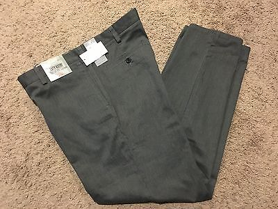 NWT DOCKERS Straight Fit Easy Khaki Pant Flat Front Gray Heather 32X30 MSRP50