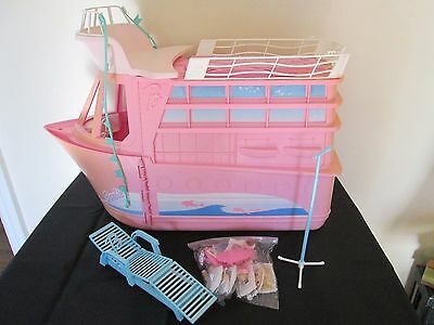 Large Vintage Barbie Yacht Cruise Ship W/ Accessories - Working