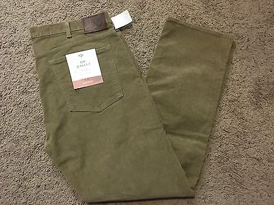 Nwt Dockers The Jean Cut Straight Fit Corduroy Pants Brown 33X32 Msrp $58
