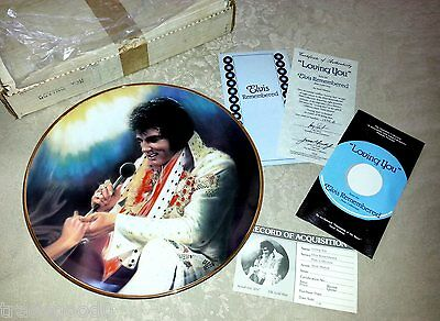 Elvis Presley Remembered 'loving You' Collector Plate 23K Gold~Hamilton Mib New