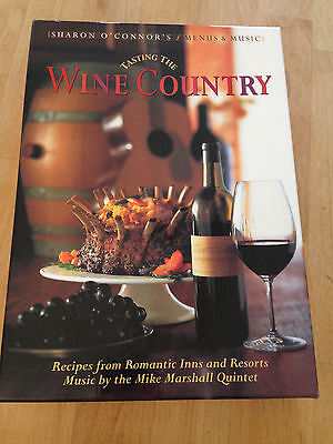 TASTING THE WINE COUNTRY GIFT BOX SET WITH COOKBOOK AND MUSIC CD Napa Romantic