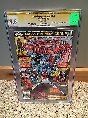 Amazing Spiderman #195 CGC 9.6 Signed by Stan Lee