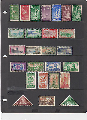 New Zealand - Old -  Health Stamps Mnh And Mlh