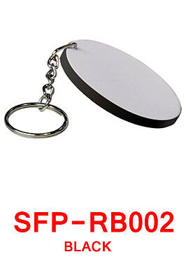 25 Credit Card Keychain ROUND BLANK SUBLIMATION HEAT TRANSFER POLYMER PVC