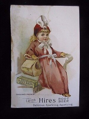 Early Hires Root Beer Victorian Ad Trade Card W.b. Mills & Son Stone Mills Ny
