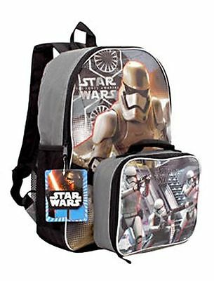 """Disney Star Wars Stormtrooper 16"""" Kids Backpack With Detachable Lunch Box Set"""