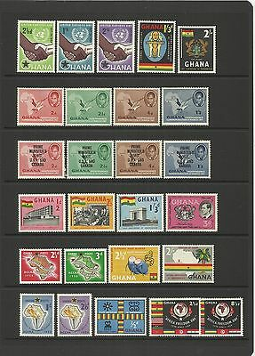 Ghana ~ Small Collection Of Early Independence Issues (Mint Mnh)