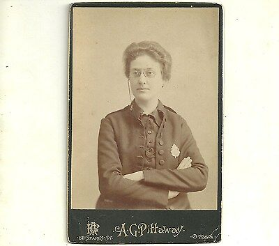 Vintage Cabinet Card Photo Woman Wearing Spectacles Ottawa Ontario Photograph