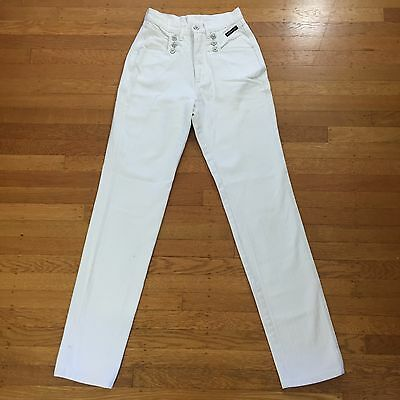 VTG Western Ethics Vintage White Super High Waisted Denim Jeans Size 5 5/6