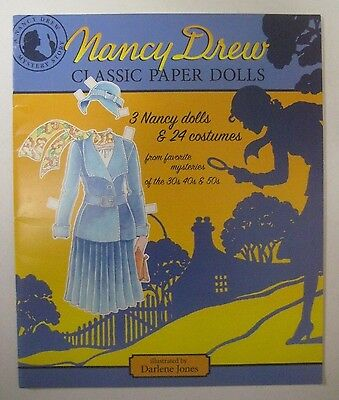 Mystery Book Solver NANCY DREW Paper Dolls Book UNCUT 2012 Darlene Jones Artist
