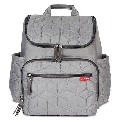 New Skip Hop Forma Backpack Diaper Bag Grey Free Express Shipping!