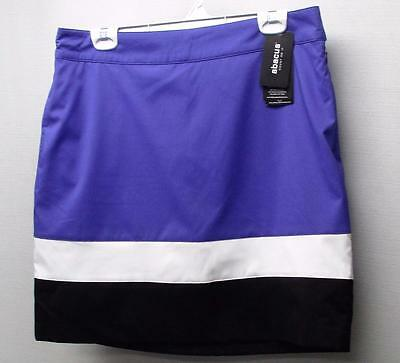 New Ladies Size 12 Abacus Multi coloured polyester spandex golf skorts