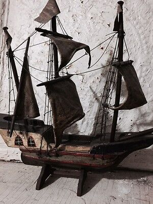 Antique/vintage wooden ship model