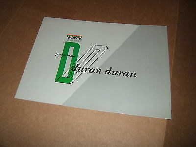 Sony Tape Presents On Tour Duran Duran Original Foldout Poster Brochure