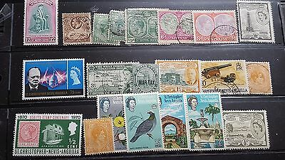 st kitts and nevis island stamps collection mhog/used g234