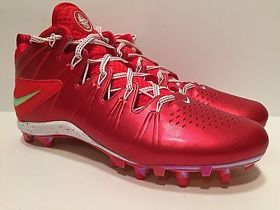 Nike Huarache 4 LAX Lacrosse Cleats, Size 10, Red, 624978-601