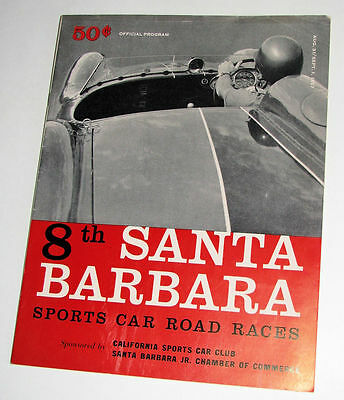 8th Santa Barbara Sports Car Race Program~Sept 1, 1957~Chuck Daigh~M.Thompson