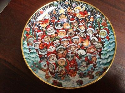 Santa Paws Franklin Mint Collector Plate