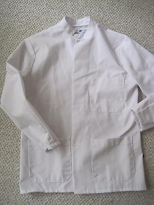 NWOT Chef Design Long Sleeve KITCHEN White  Jacket Size S