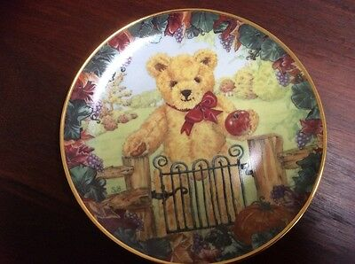 Teddys First Harvest - Franklin Mint Collector Plate