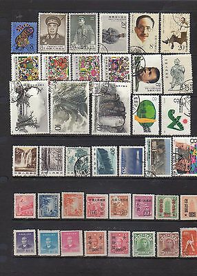 40 all different used stamps from China