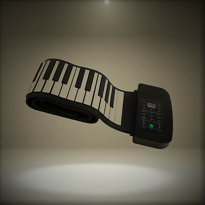 bc8f0ce20b7 Andoer Portable 88 Keys Silicone Flexible Roll Up Piano Foldable Keyboard  Hand-r