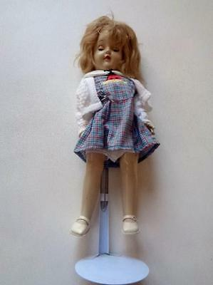 """Vintage 1950s Ideal P-91 Toni With Sleep Eyes Plastic Head Blond Haired Doll 15"""""""