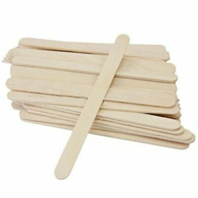 50PCS Wooden Waxing Spatula Tongue Depressor Tattoo Wax Medical Stick Brand New