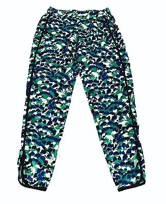 WAYF NEW Green Womens Size XS Abstract Print Pull On Stretch Pants $72 555