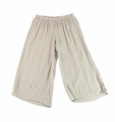 Wallpapher NEW Beige Womens Size Small S Capris Cropped Gaucho Pants $48 211