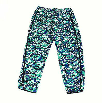 WAYF NEW Green Womens Size XL Abstract Print Pull On Stretch Pants $72 464