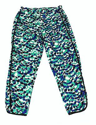 WAYF NEW Green Womens Size Large L Abstract Print Pull On Stretch Pants $72 556