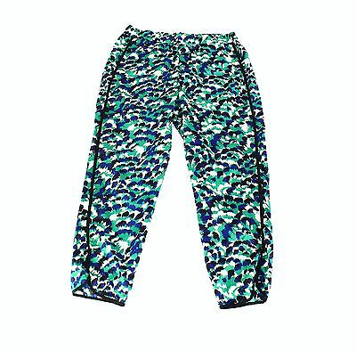 WAYF NEW Green Womens Size XL Abstract Print Pull On Stretch Pants $72 548