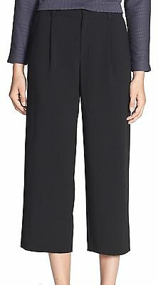 Chelsea28 NEW Deep Black Womens Size 6 Pleated Cropped Dress Pants $88 013