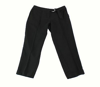 Willow & Clay NEW Black Women's Size Small S Belted Cropped Pants $75 643