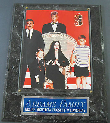 #1 Fan Addams Family Cast Framed 8 X 10 Photo 12 X 15 Wall Plaque Display
