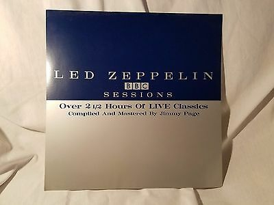 "Led Zeppelin ORIGINAL Record Store 12"" 1984 Promo Flat - BBC Sessions - no music"