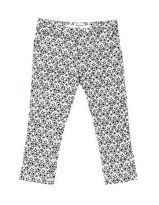 English Laundry NEW Black Womens Size 8 Floral Print Cropped Pants $68 707