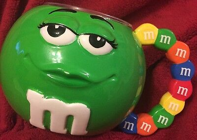 M&M's Green Ceramic Oversized Mug With Colorful Handle