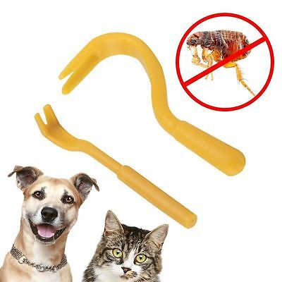 2 Differ Sizes Louse Flea Scratching Remover Hook Tool Human/Dog/Pet/Horse/Cat