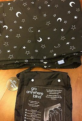 The Gro Company Grow Anywhere Blind Black Blackout Curtain  51.2 in X 77.9 in